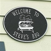 Party Time Personalized Aluminum Deck Plaque - Grill - 1357D-G