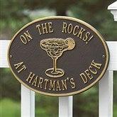 Party Time Personalized Aluminum Deck Plaque - Margarita - 1357D-M