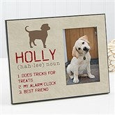 Definition of My Dog Personalized Picture Frame - 13595