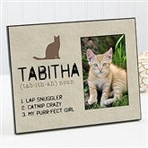 Definition of My Cat Personalized Picture Frame - 13596