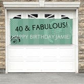 Party Time Swirls Personalized Banner - 13601