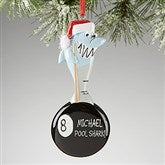 Pool Shark© Personalized Ornament