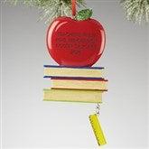 Teachers Rule© Personalized Apple Ornament- 2016