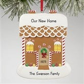 Gingerbread House Greetings© Personalized Ornament