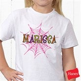 Spider Webs  for Her Personalized Hanes® Youth T-Shirt - 13655-YCT