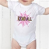Spider Webs for Her Personalized Baby Bodysuit - 13655-CBB