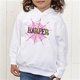 Spider Webs for Her Personalized Toddler Hooded Sweatshirt - 13655-CTHS