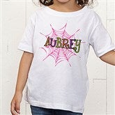 Spider Webs  for Her Personalized Toddler T-Shirt - 13655TT
