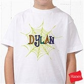 Spider Webs For Him Personalized Hanes® Youth T-Shirt - 13656-T