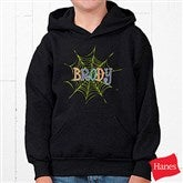 Spider Webs For Him Personalized Youth Hooded Sweatshirt - 13656-YHS
