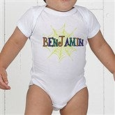 Spider Webs For Him Personalized Baby Bodysuit - 13656-CBB