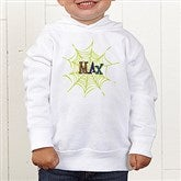 Spider Webs For Him Personalized Toddler Hooded Sweatshirt - 13656-CTHS