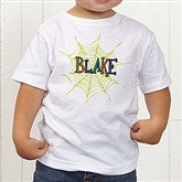 Spider Webs For Him Personalized Toddler T-Shirt - 13656-TT