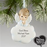 Heaven Sent Precious Moments Personalized Ornament- Boy - 13661-B