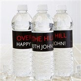 Party Time Striped Personalized Water Bottle Labels - 13665