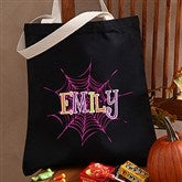 Spider Webs Personalized Halloween Treat Bag - 13669
