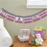 Chevron Baby Shower Personalized Paper Banner - 13715