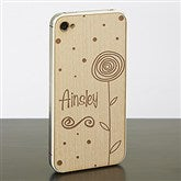 In Bloom iPhone 4/4s Wood Cell Phone Skin