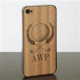 Golf Crest iPhone 4/4s Wood Cell Phone Skin