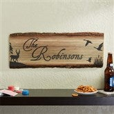 Hunter's Hideaway Personalized Basswood Plank