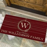 Holiday Wreath Personalized Oversized Doormat - 13782-O