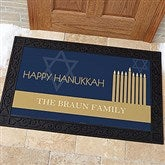 Hanukkah Personalized Doormat- 20x35 - 13783-M