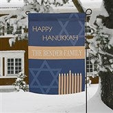 Hanukkah Personalized Garden Flag - 13785
