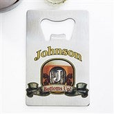 Vintage Bar Personalized Credit Card Size Bottle Opener - 13788