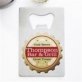 Premium Brew Personalized Credit Card Size Bottle Opener