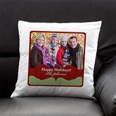Classic Holiday Personalized Photo Throw Pillow - 13791