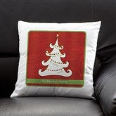 Christmas Tree Personalized Throw Pillow - 13795