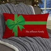 Christmas Present Personalized Lumbar Throw Pillow - 13795-LB