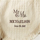 Wedded Pair Wedding & Anniversary Personalized Afghan - 13803