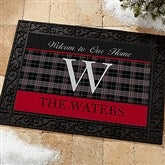 Northwoods Plaid Personalized Doormat- 18x27 - 13805-S