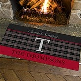 Northwoods Plaid Personalized Oversized Doormat- 24x48 - 13805-O