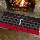 Northwoods Plaid Personalized Oversized Doormat- 24x48 - 13805-O