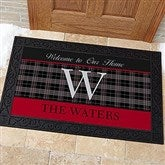 Northwoods Plaid Personalized Doormat- 20x35 - 13805-M