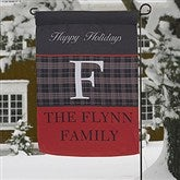 Northwoods Plaid Personalized Garden Flag - 13806