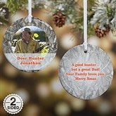 2-Sided Camouflage Photo Personalized Ornament-Small - 13809-2