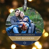 Hanukkah Personalized Photo Ornament - 13815