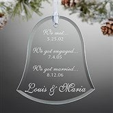 Special Dates Couple Engraved Bell Ornament - 13818