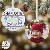 2-Sided Baby's 1st Christmas Personalized Age Ornament - 13825-2