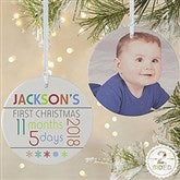 2-Sided Baby's 1st Christmas Personalized Age Ornament-Large - 13825-2L