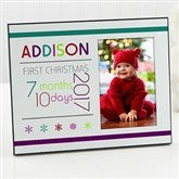 Baby's 1st Christmas Personalized Age Frame - 13826