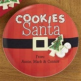 Cookies For Santa Personalized Melamine Plate - 13832D-P