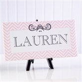 Chevron Class For Her Personalized Canvas Print- 5½