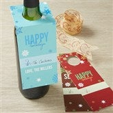 Season's Greetings Personalized Wine Bottle Tags - 13840