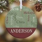 1-Sided Our Loving Family Personalized Ornament- Small - 13843-P