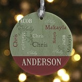 1-Sided Our Loving Family Personalized Ornament - 13843-P