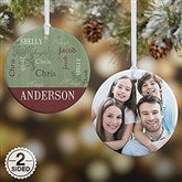 2-Sided Our Loving Family Personalized Ornament- Small - 13843-2